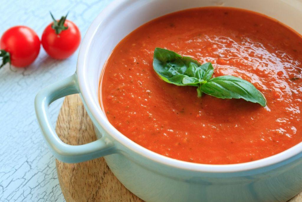 Суп-Пюре Из Шампиньонов с томатной пастой