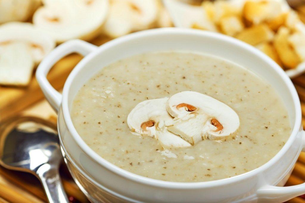 Суп-Пюре Из Шампиньонов с гречкой