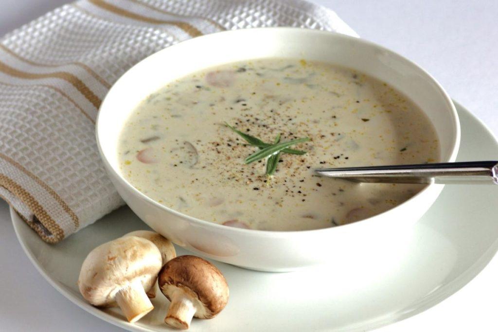 Суп-Пюре Из Шампиньонов с чечевицей