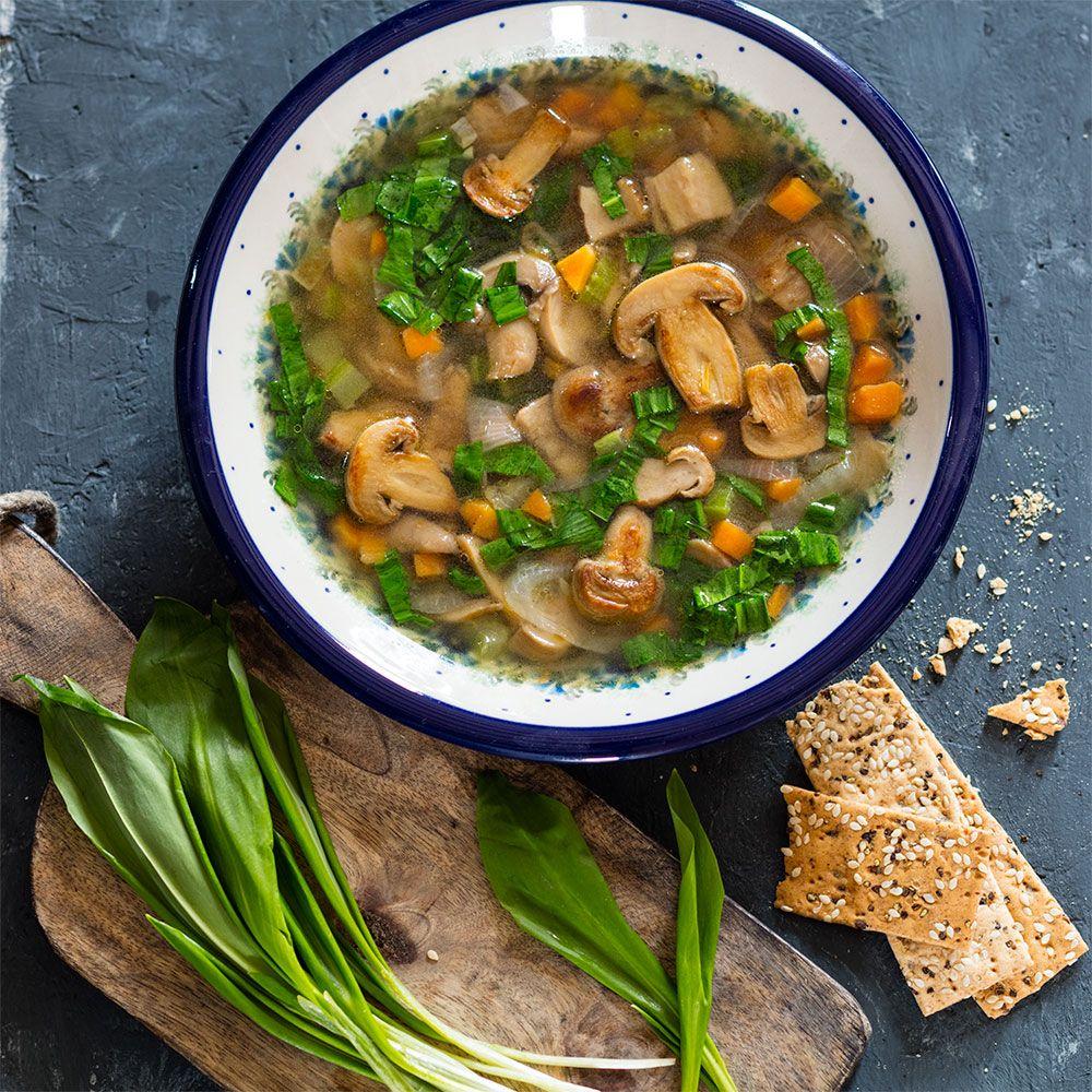 Отварные шампиньоны для супа