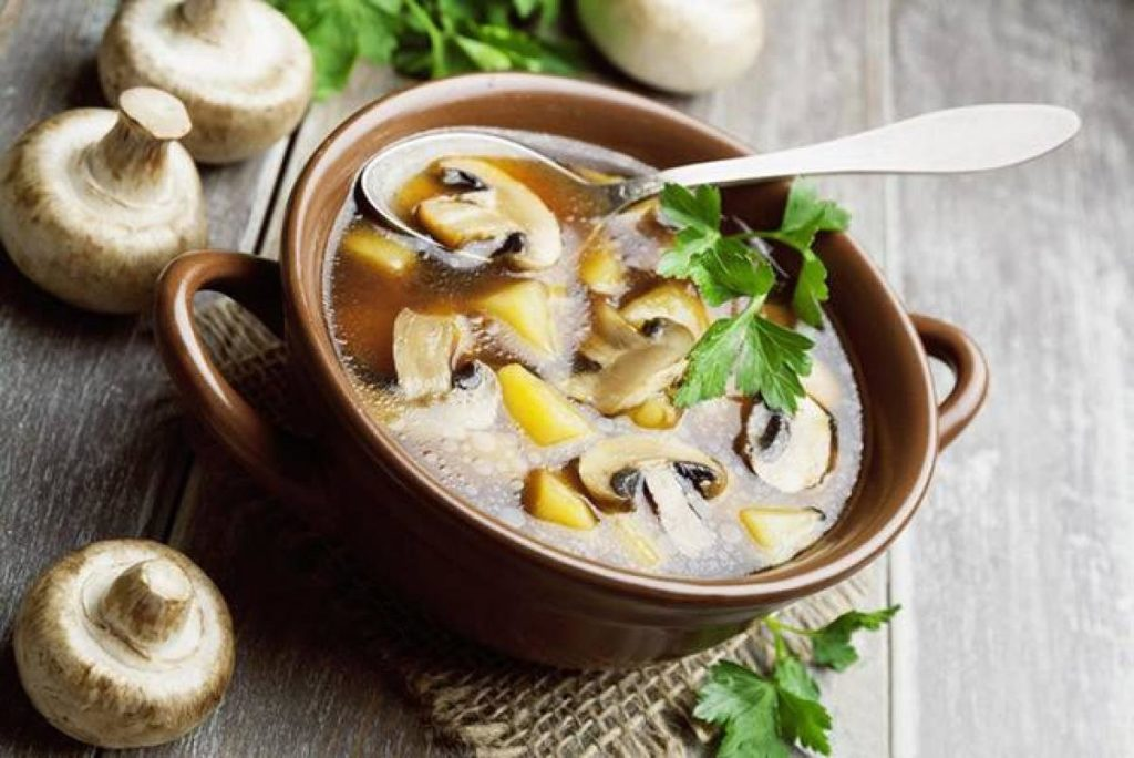 Как приготовить грибной суп из шампиньонов в скороварке