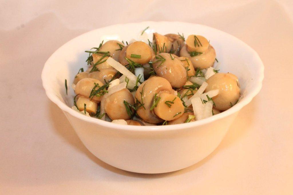 Рецепт соленых грибов шампиньонов на зиму