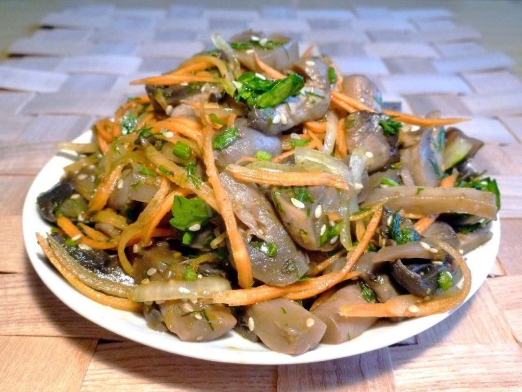 Как приготовить салат из жареных шампиньонов, курицы и сыра – пошаговый рецепт