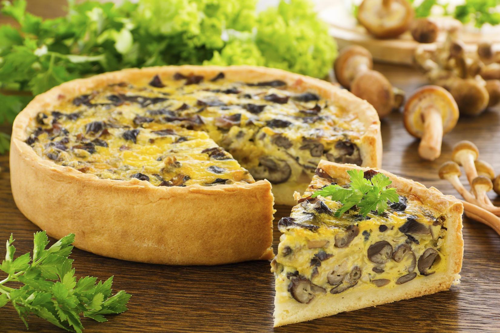 пирог с картошкой и шампиньонами