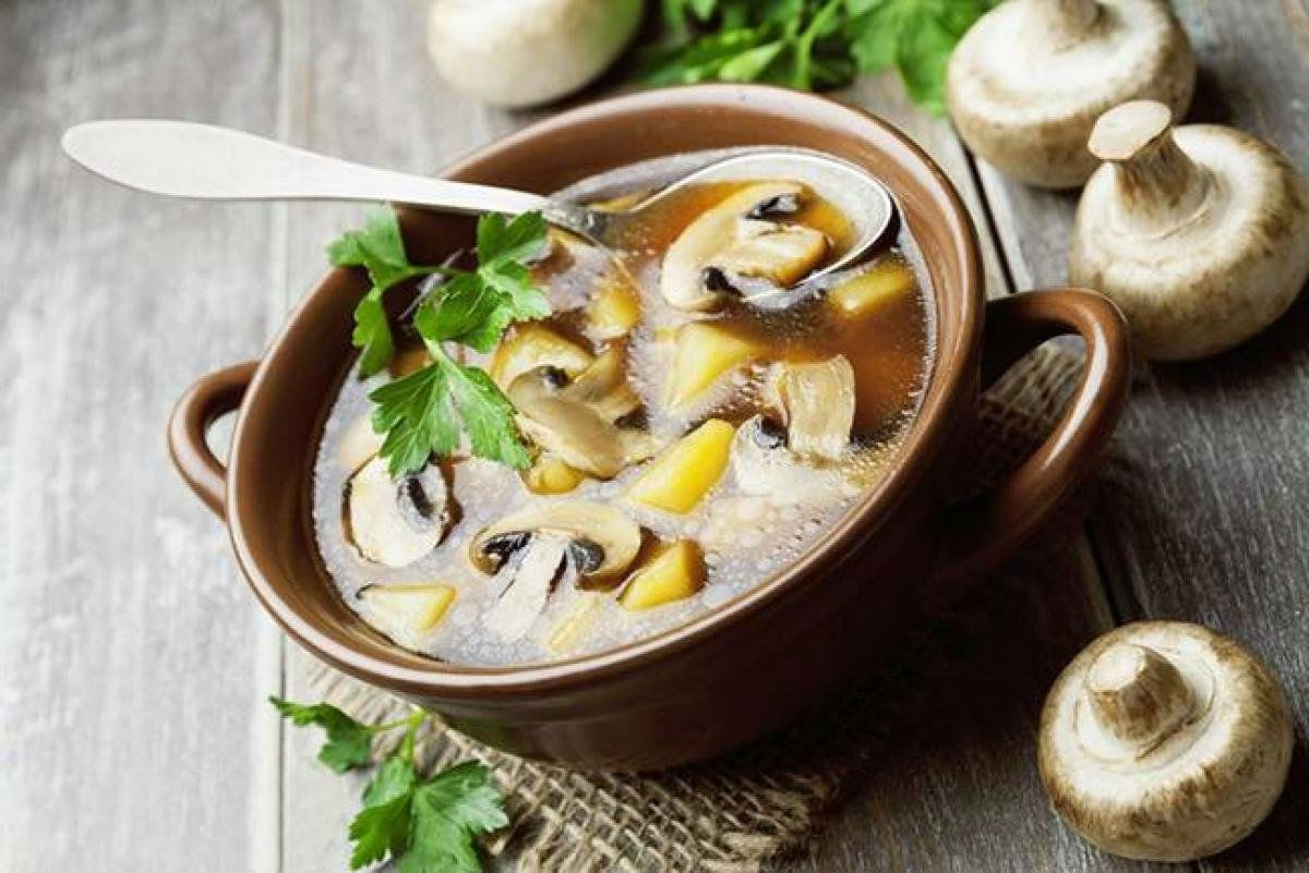 Описание приготовления супа из шампиньонов с рисом