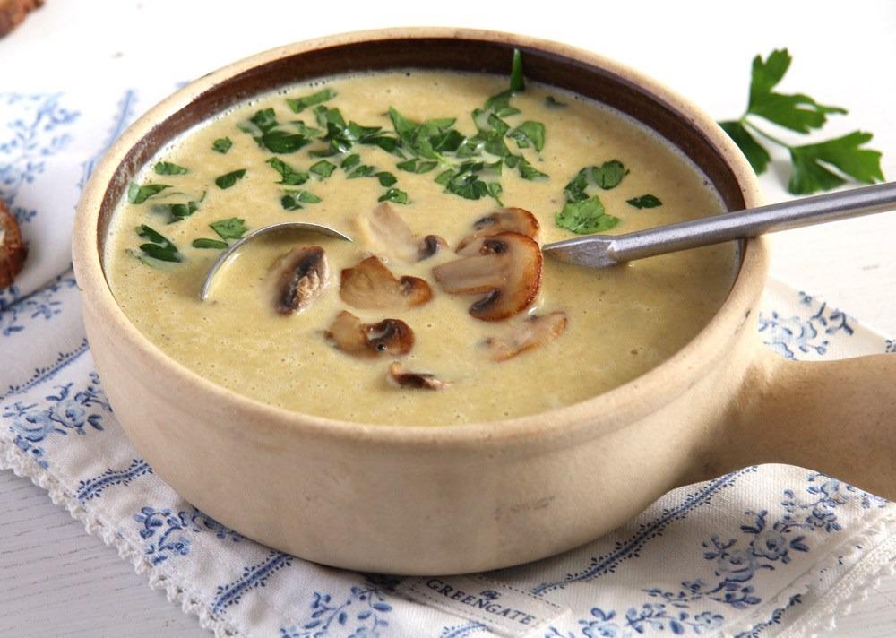 Рецепт приготовления грибного супа-пюре с сыром