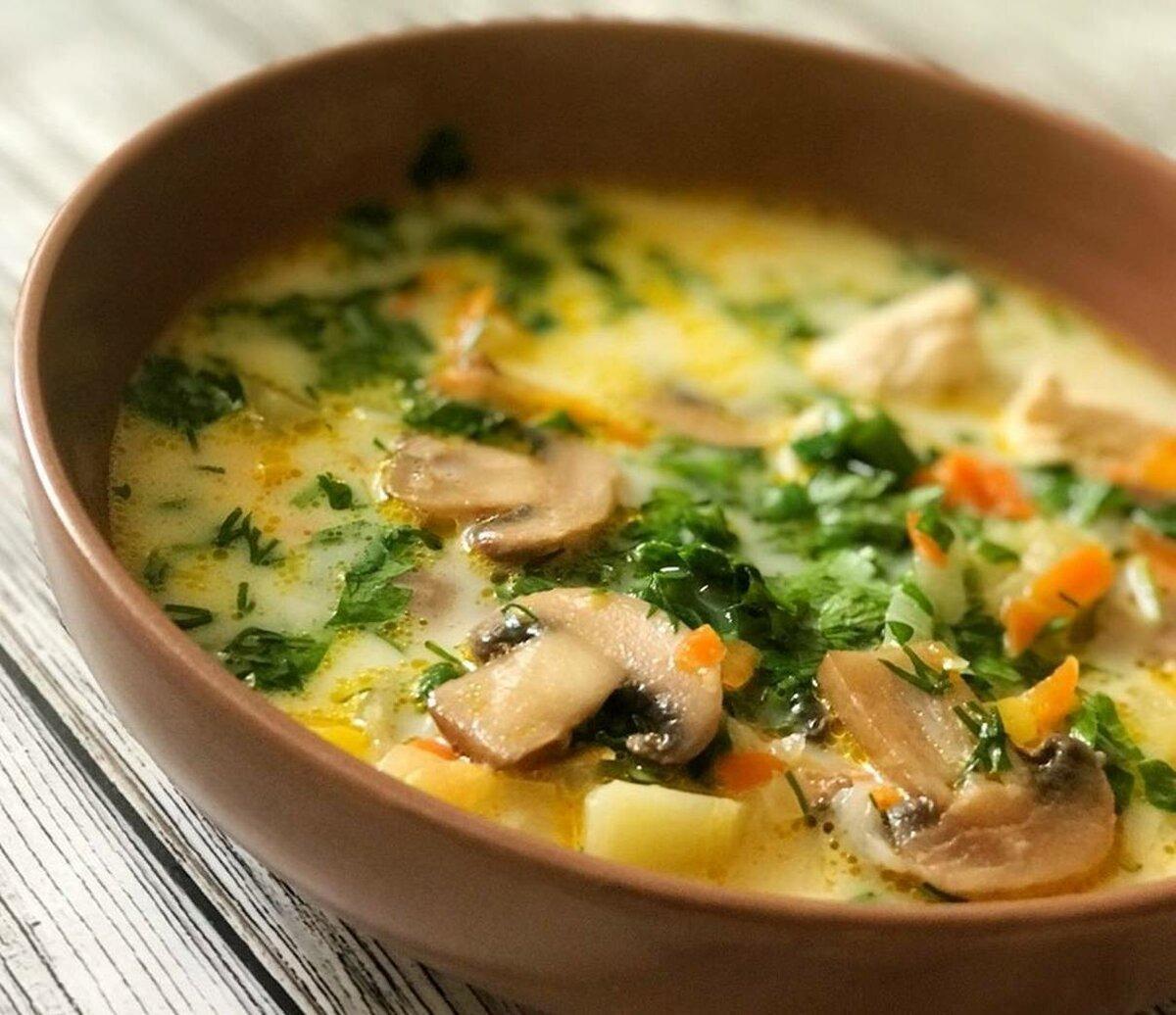 Вкусный и простой в приготовлении грибной суп с вермишелью